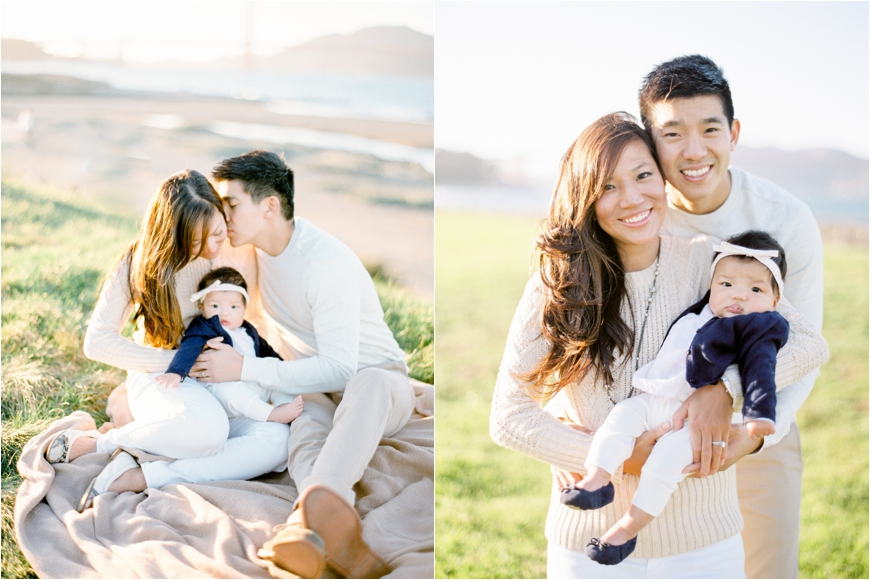 photographer coco tran's film images of family cuddling baby