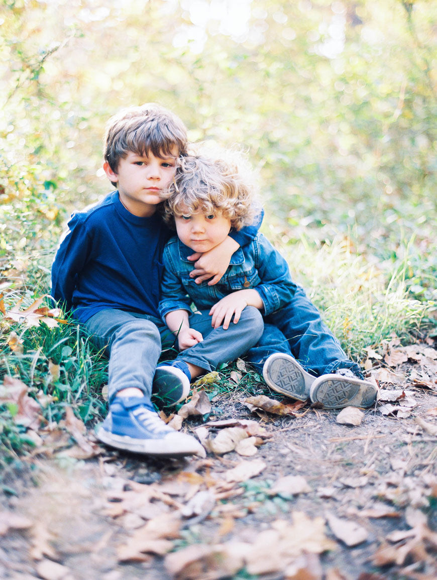 film image of two brothers together outside in natural light by cindy feraro