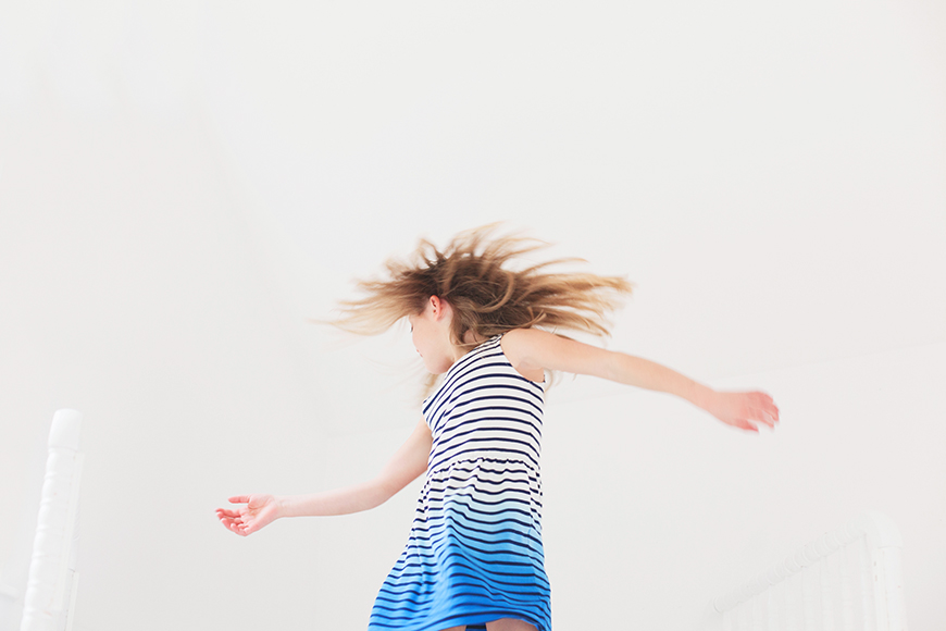 jennifer morrow's image of daughter jumping on bed