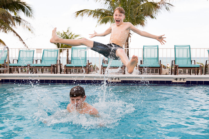 the life in your years photography image of boys in pool