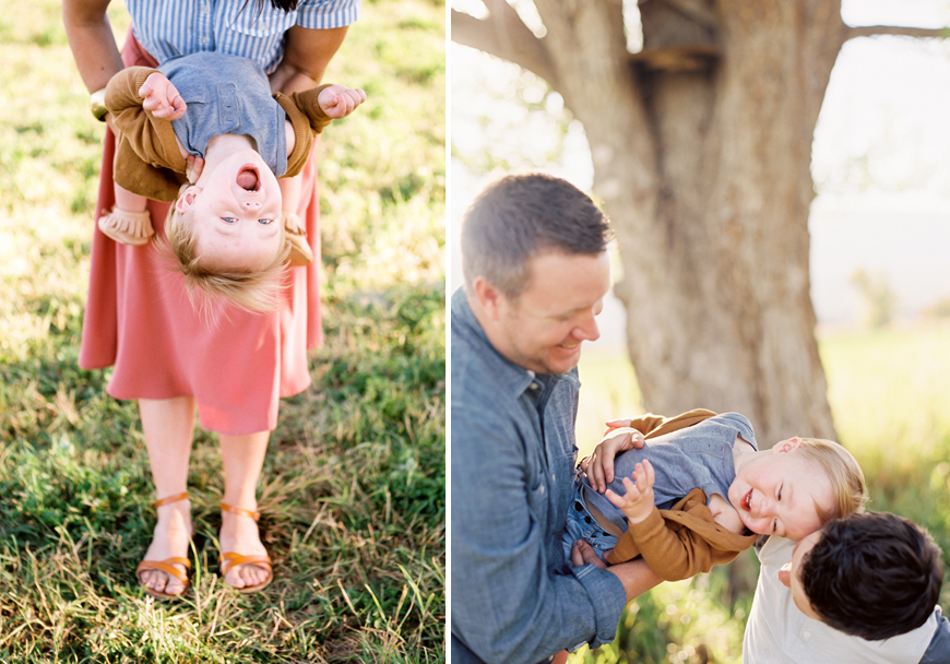 green apple photography's images of fun and colorful family session