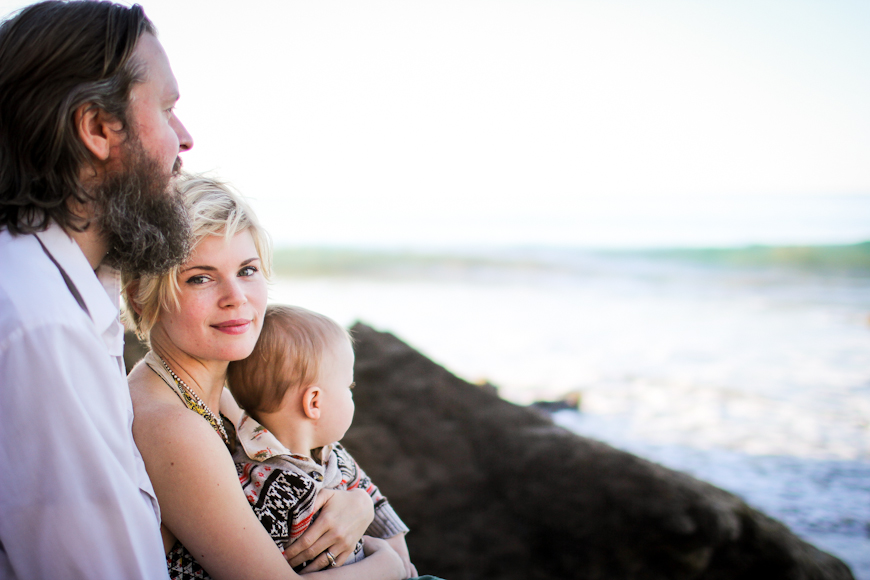 gorgeous family at ocean by photographer shannon alkin