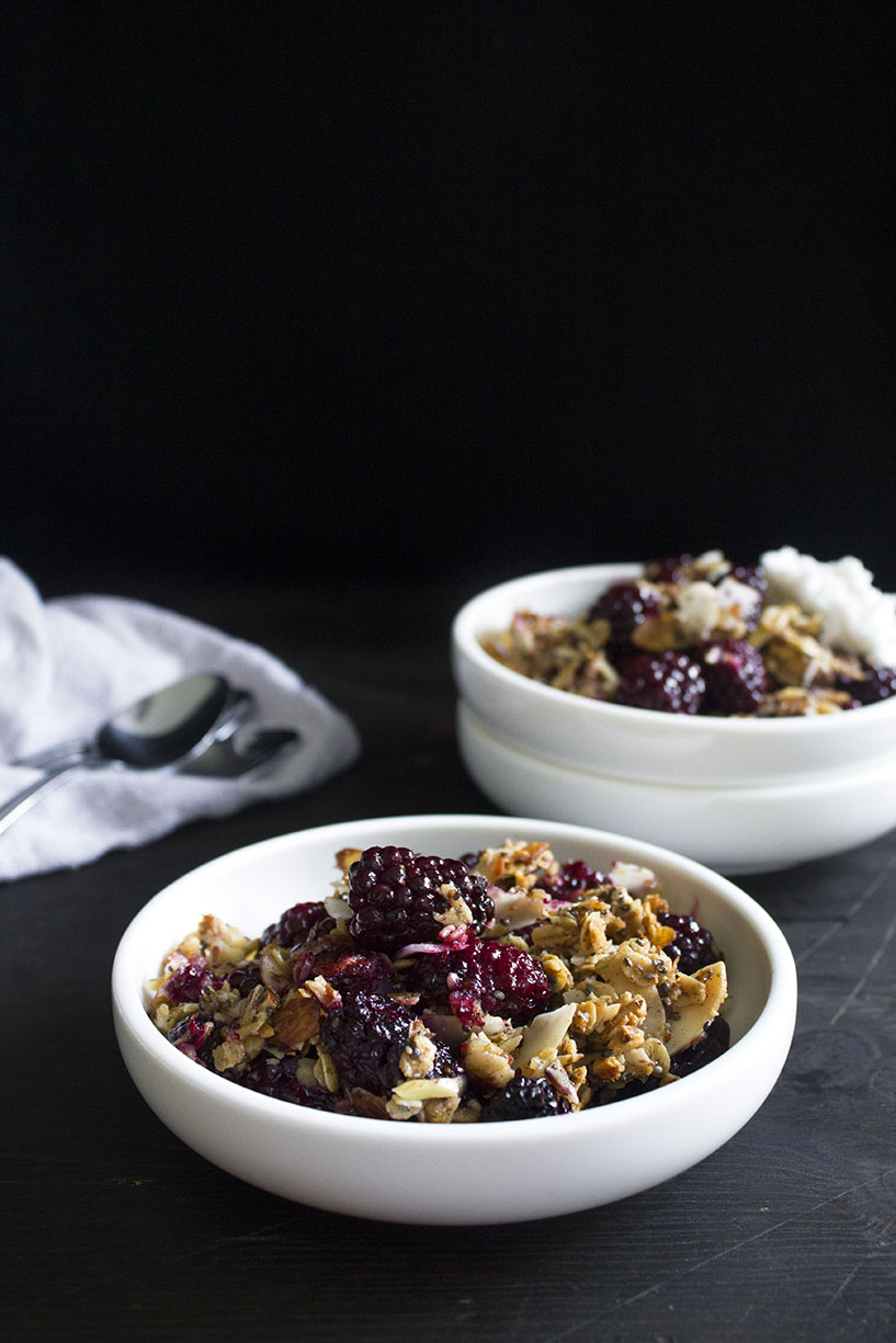 Berry Breakfast Crisp In Bowls by Wifemamafoodie