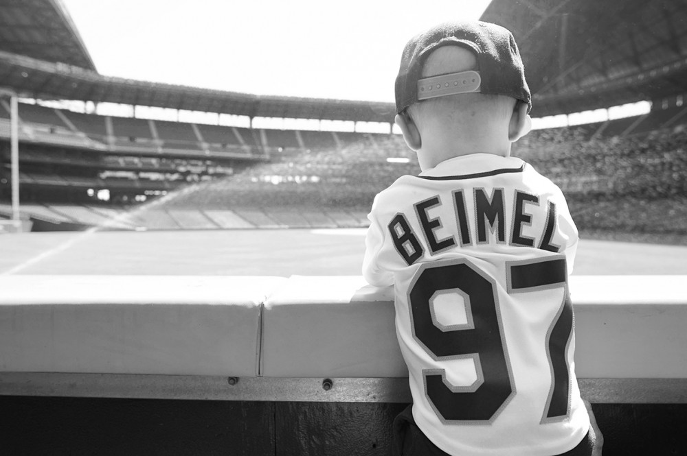 image of joe beimel son seattle mariners baseball professional player at game in father jersey by carley beimel