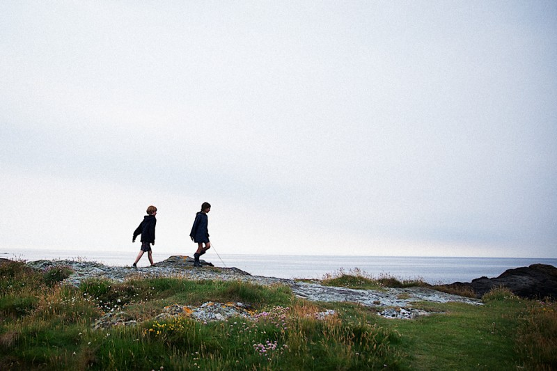 1 Children on rocky coast in Anglesey-NorthWales by international photographer Lea Jones
