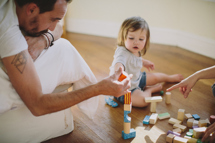 11 photo of father playing blocks with toddler daughter by Rachelle Derouin