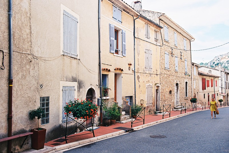 14 Quiet street scene in Provence-France by international film photographer Lea Jones