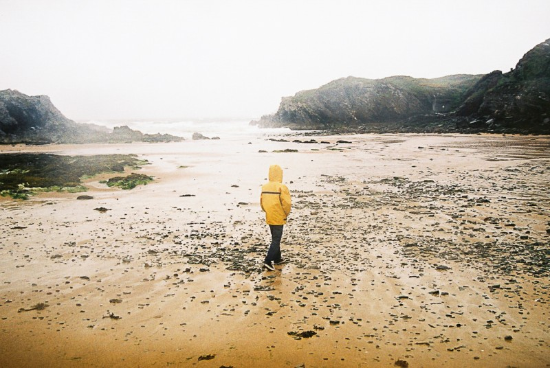 4 Boy on stormy beach in Anglesey-NorthWales by international photographer Lea Jones