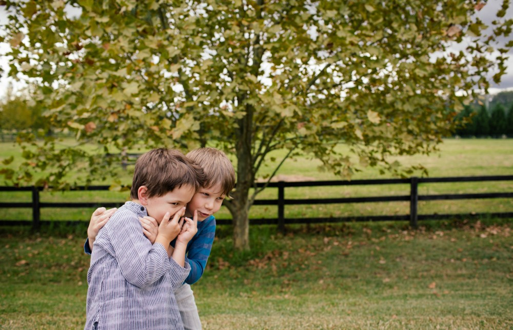 8 picture of two young brothers telling secrets autumn by sheridan nilsson