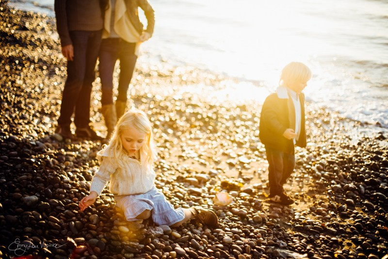 13 image of family of four on rocky pebbly beach Vancouver Family Photographer - Emmy Lou Virginia Photography-37