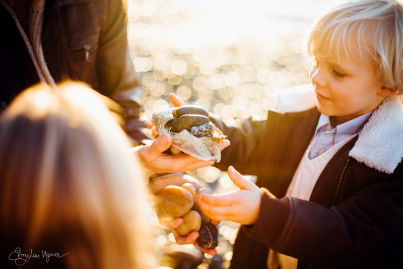 14 picture of young boy being handed shell full of stones Vancouver Family Photographer - Emmy Lou Virginia Photography-39