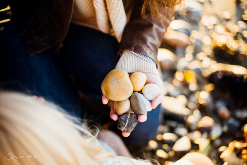 2 picture of womans hand holding rock Vancouver Family Photographer - Emmy Lou Virginia Photography-4