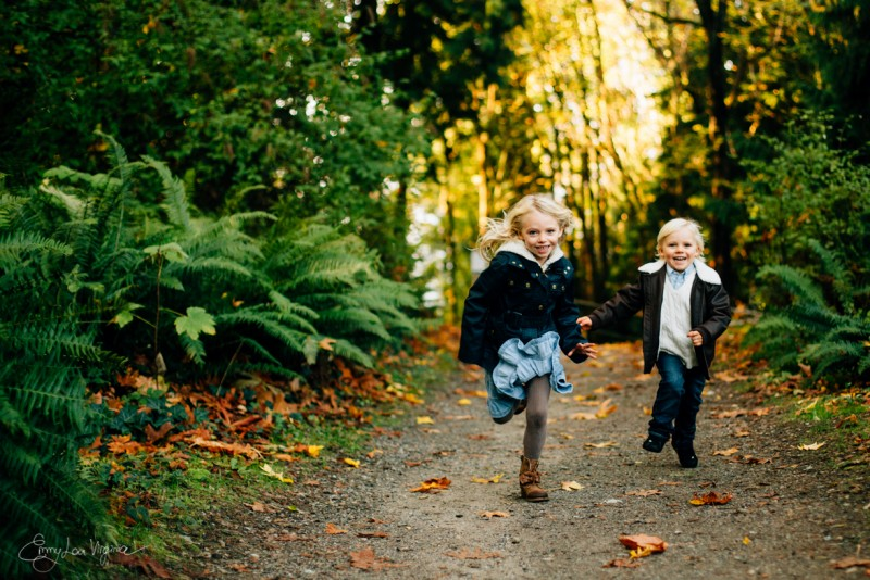 5 image of young blond brother sister running towards camera Vancouver Family Photographer - Emmy Lou Virginia Photography-22