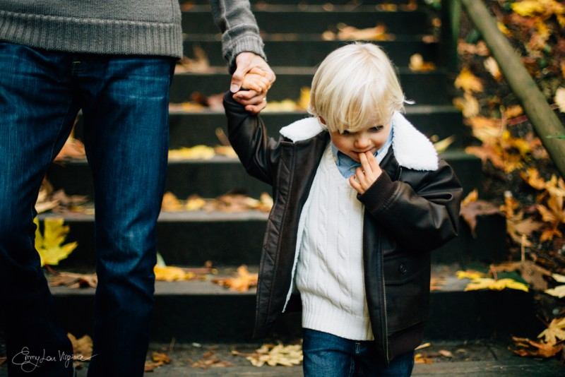 6 photo of young blond boy holding fathers hand Vancouver Family Photographer - Emmy Lou Virginia Photography-23