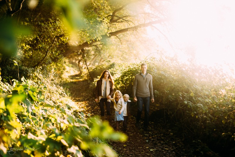 7 picture of family of four walking in woods Vancouver Family Photographer - Emmy Lou Virginia Photography-24