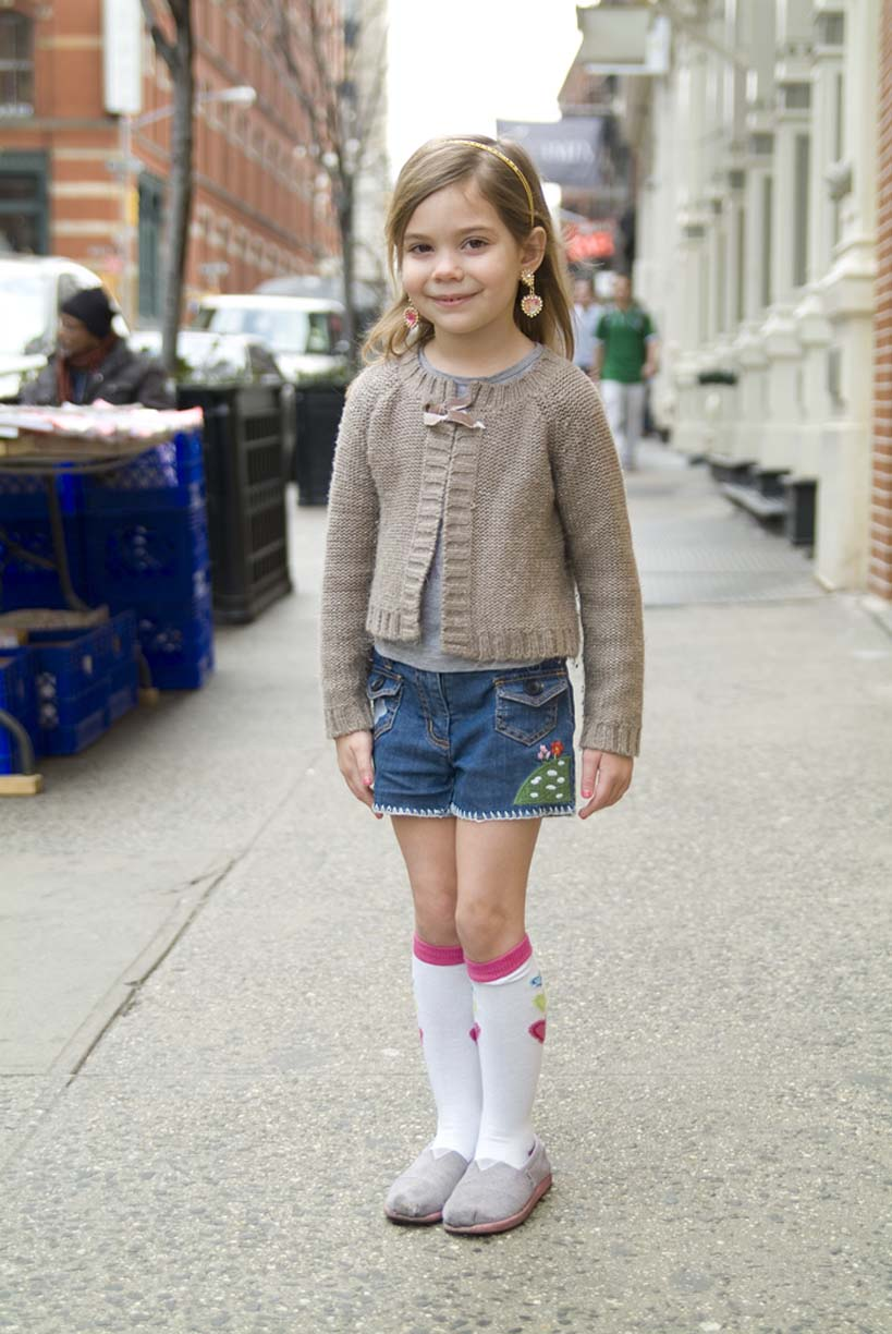 picture of little girl with high socks by Erica Tashiro