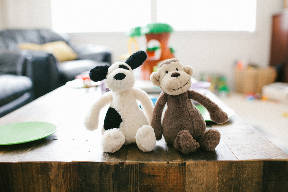 a photo of a child's stuffed animals by kansas city missouri photographer ashley parsons