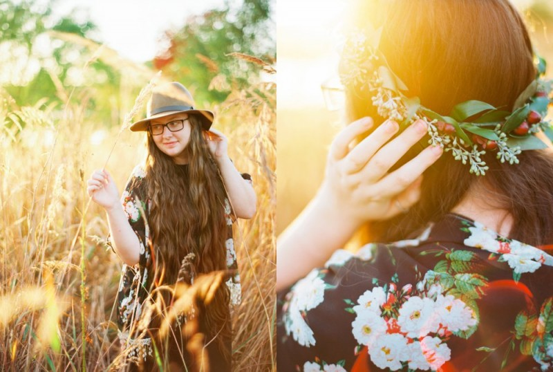 boho chic senior photo by ashley crawford