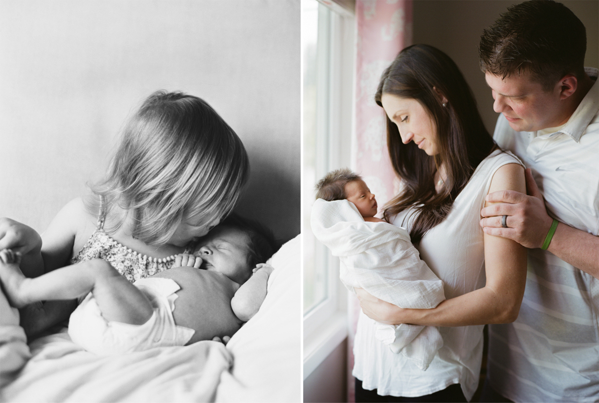 film photos of a family and their newborn baby by portland oregon photographer marla cyree
