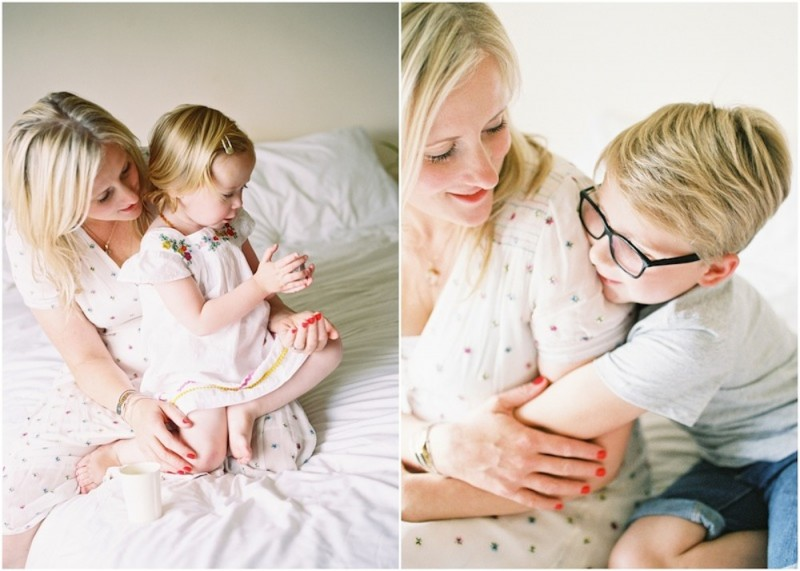 gorgeous family at home session images by photographer kjrsten madsen