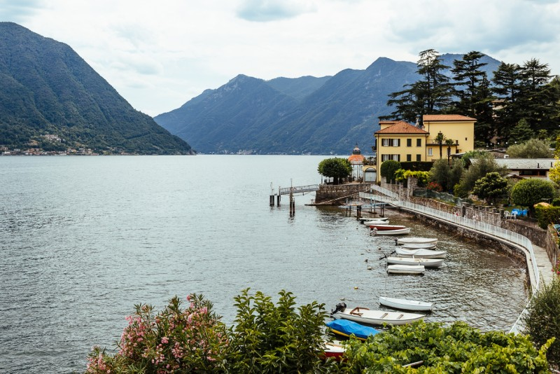 1 Boats and a villa on Lake Como by Darcy Troutman Photography