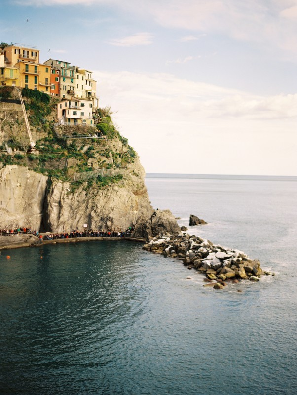 12 European cliffside town on a sunny day By Jacquelyn Hayward