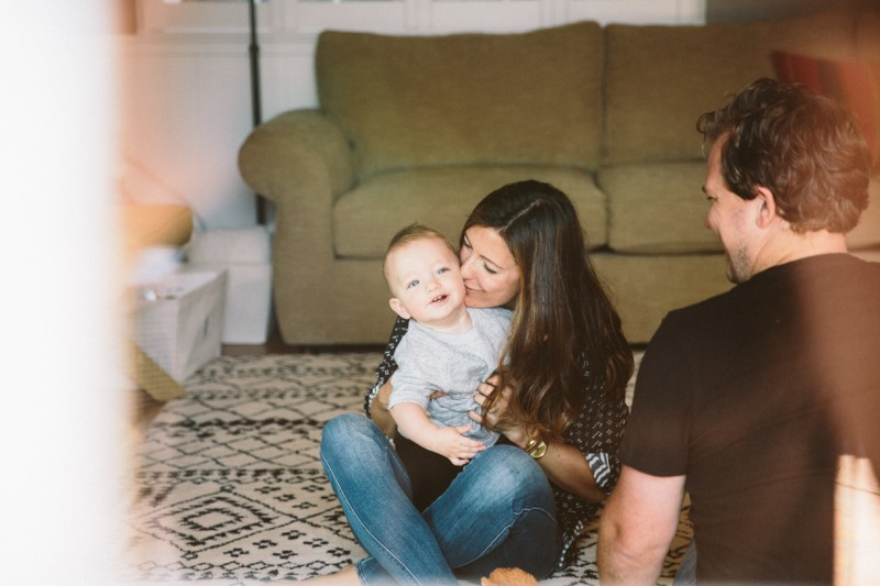 lifestyle in home family photo by Nicole diGiorgio