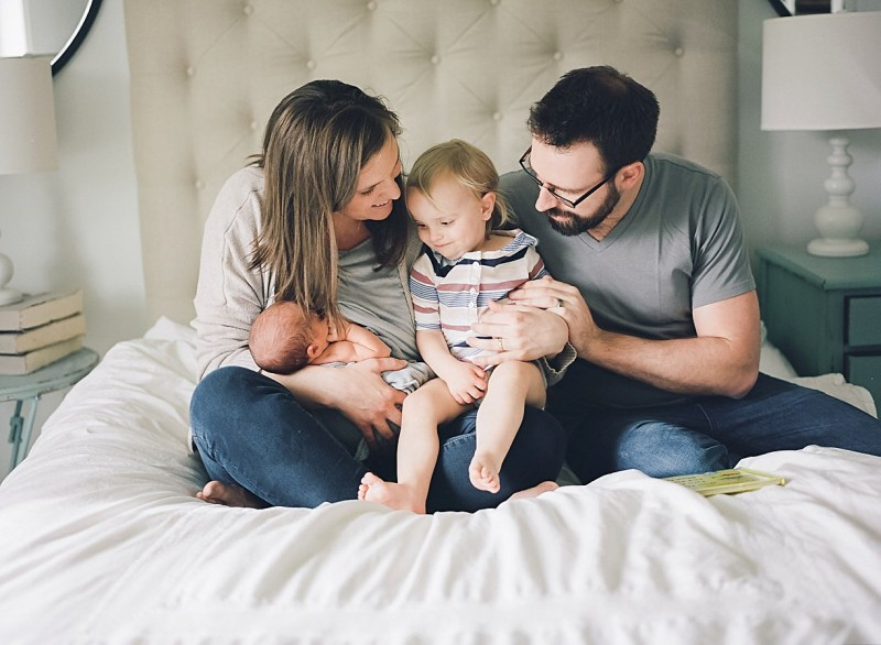 newborn lifestyle session by film photographer Olivia Sweeney