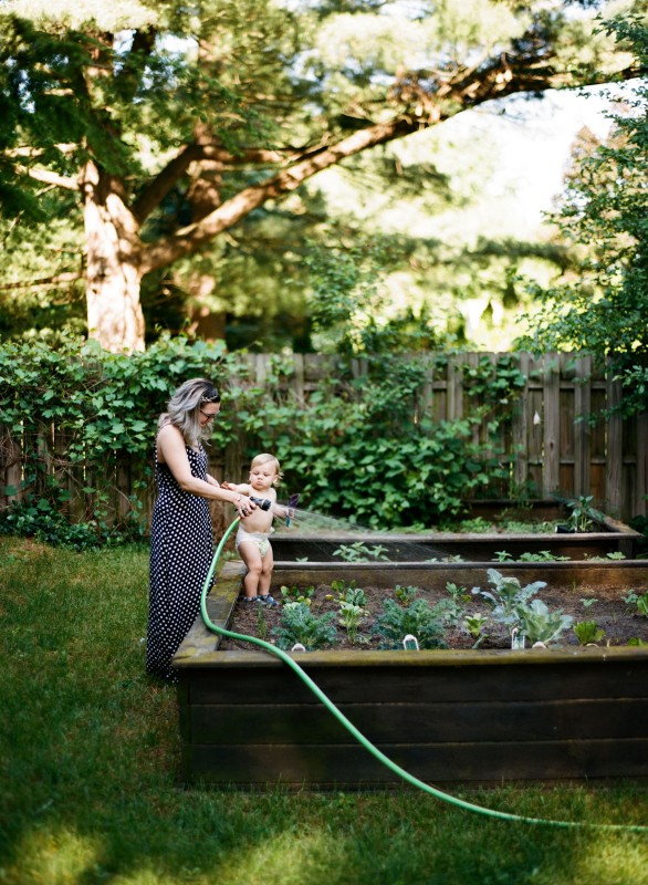 mom and daughter gardening photo by Paige Gabert