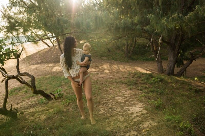 pic of mom walking with toddler by Cadence Feeley