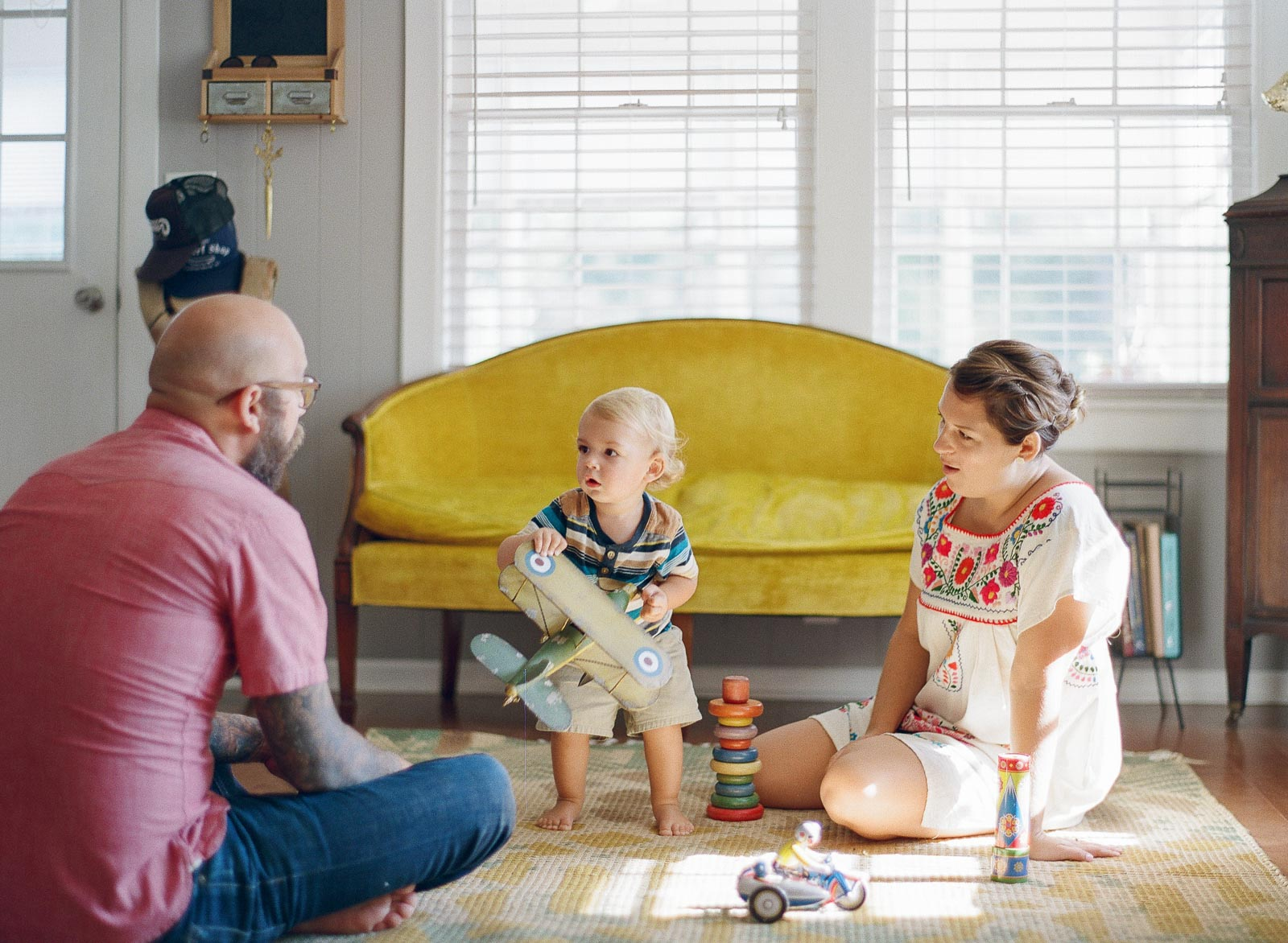in home lifestyle family photo session by film photographer Leanne Haskings